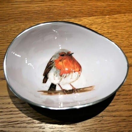 Recycled robin oval bowl