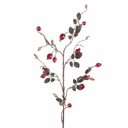 Artificial rose hip spray