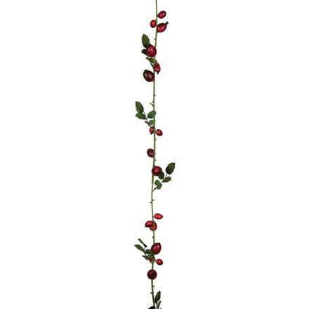 Artificial rose hip garland 180cm