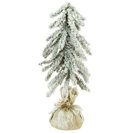 Artificial mini snowy tree 35cm