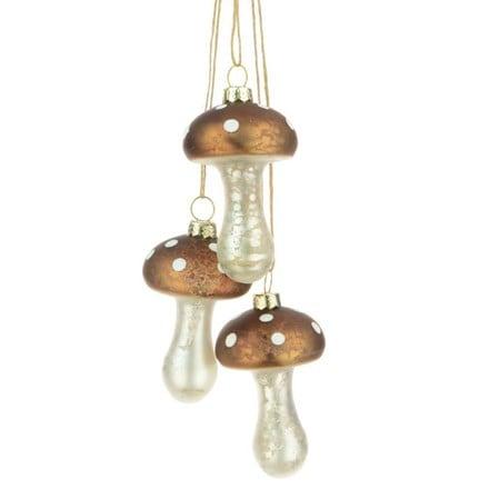 Glass mushroom cluster