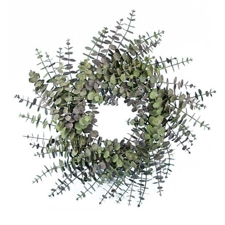 Artificial spiral eucalyptus wreath 60cm
