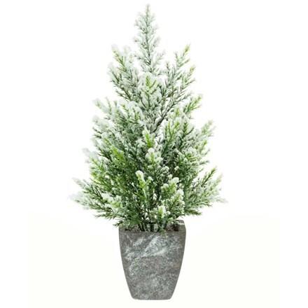 Artificial snow juniper with pot 36cm