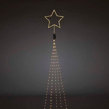 Amber LED light set and top star - gold wire