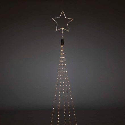 Amber LED light set and top star - silver wire