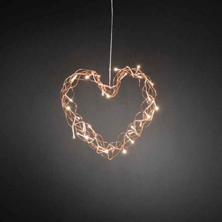 Metal copper heart wreath