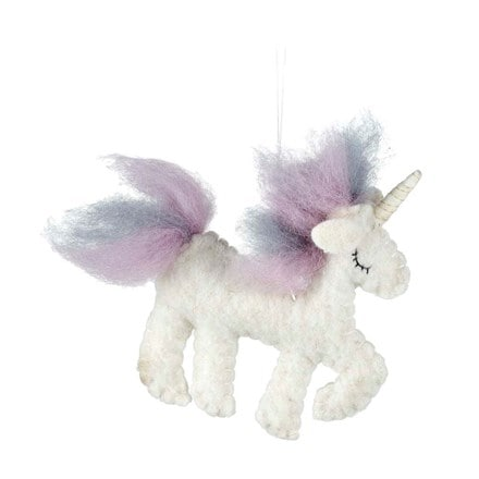 Wool unicorn decoration