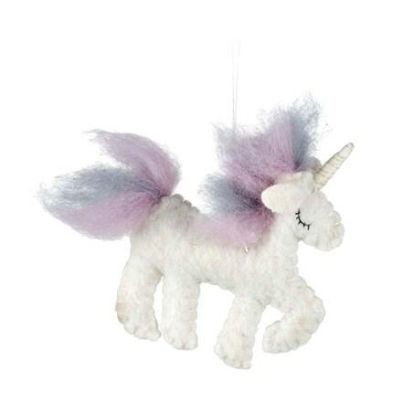 Christmas woolly unicorn