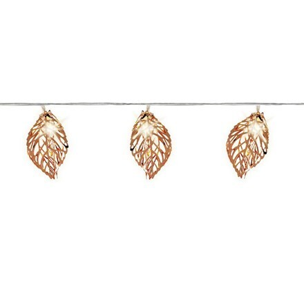 LED metal leaf garland