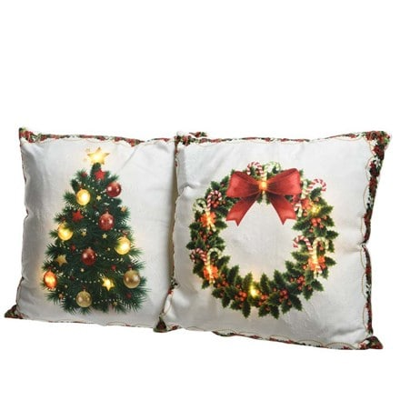 LED Christmas cushion