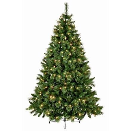 Pre-lit Ridgemere pine artificial Christmas tree