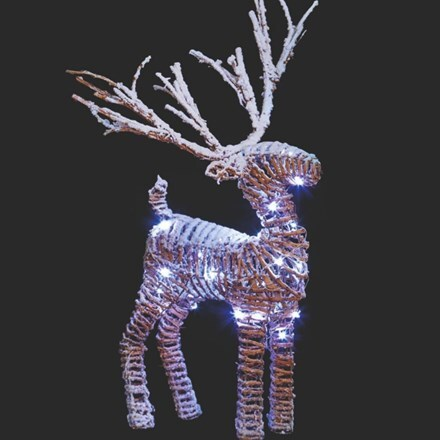 LED rattan reindeer - 36cm