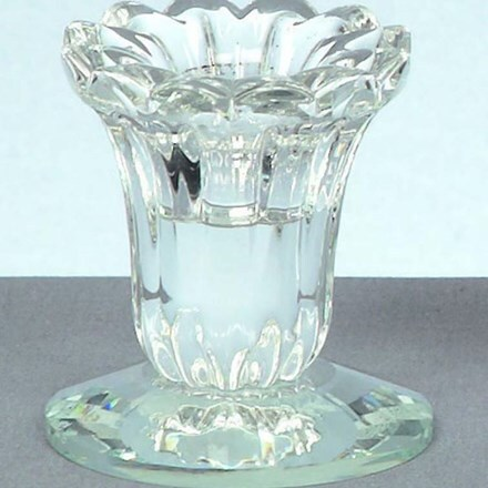 Round crystal candlestick