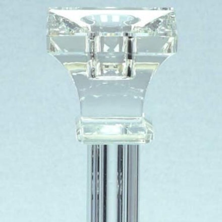 Square crystal candlestick