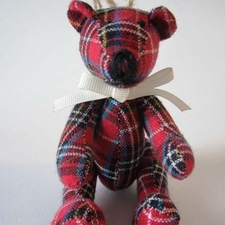 Tartan hanging bear