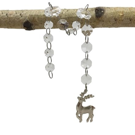 Hanging stag silhouette jewel chain
