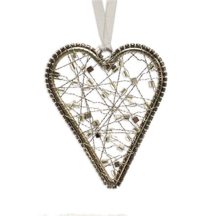 Hanging wire heart