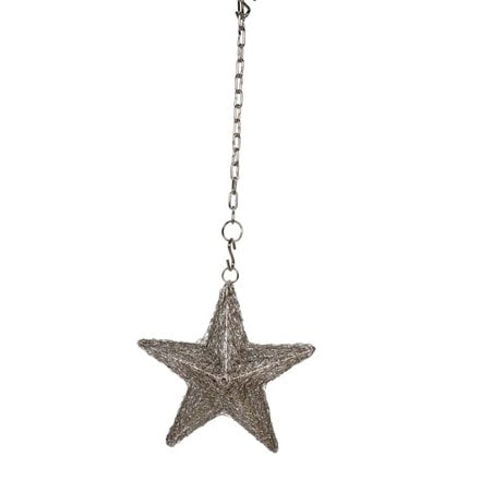 Metallic wire LED star