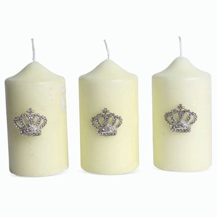 Candle jewellery - coronation crowns