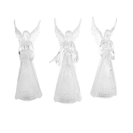 LED acrylic angel ornament assorted