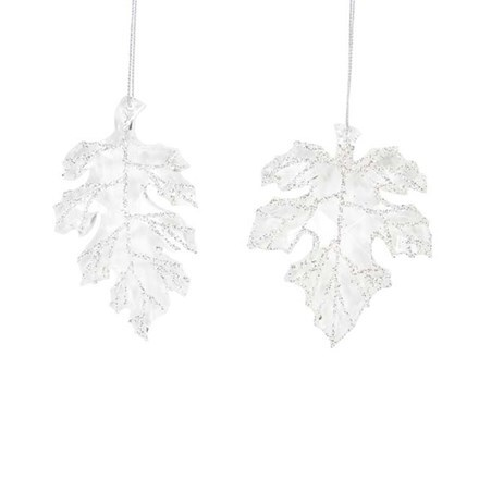 Glittered leaf decoration