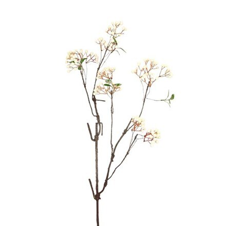 Artificial white mini berry branch