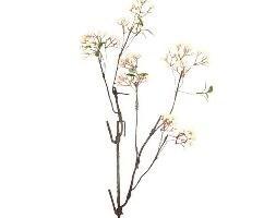 Artificial white mini berry branch