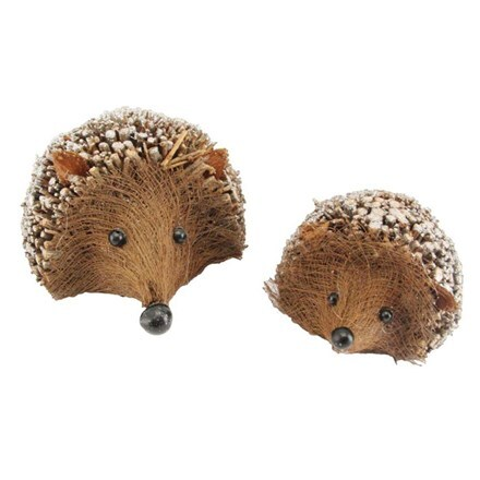 Twig hedgehog ornament - set of 2