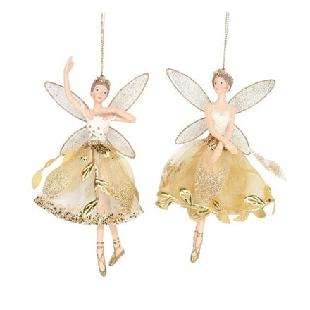 Resin gold leaf skirt fairy