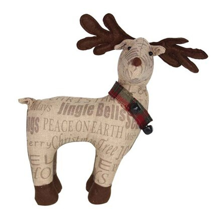 Sentiment fabric reindeer ornament