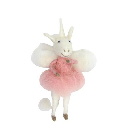 Wool mix unicorn fairy decoration