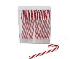 Acrylic mini candy cane decorations
