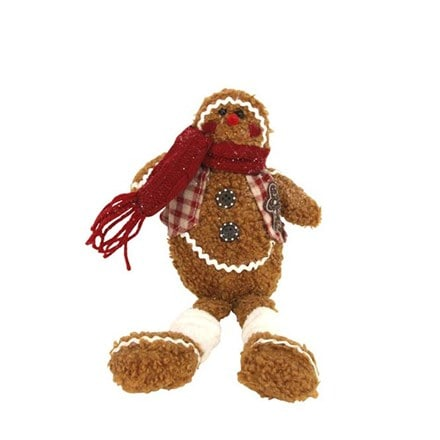 Fabric gingerbread man shelf sitter