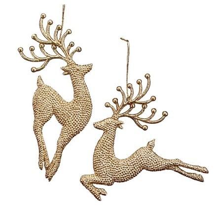 Gold glitter acrylic reindeer