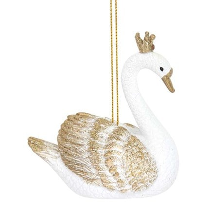 White/gold swan decoration
