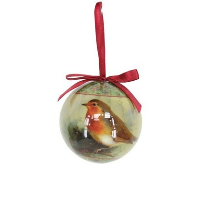 Paper bauble - robin