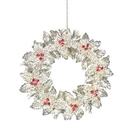 Holly wreath decoration