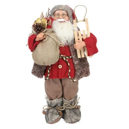 Plush Santa in fur boots - 45cm