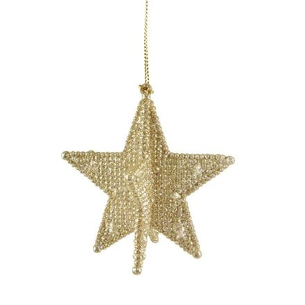 Pale gold glitter acrylic 5 point star