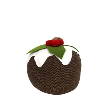Fabric Christmas pudding doorstop