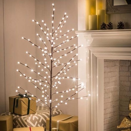 Flocked LED berry tree - 150cm