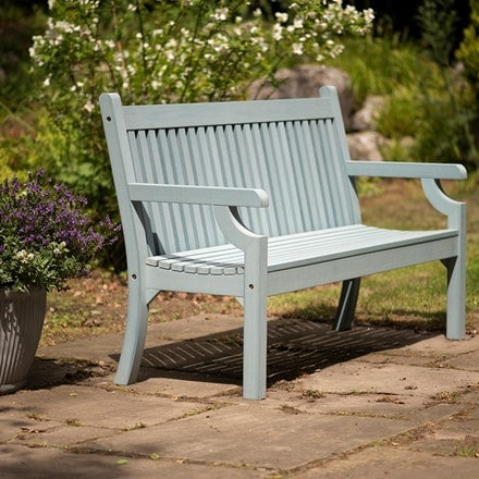 Milton bench powder blue
