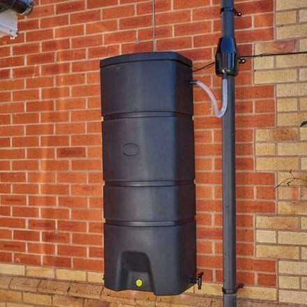 Terracottage wall mounted water butt - 160 litres