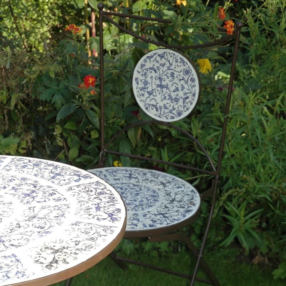 Aged ceramic bistro set