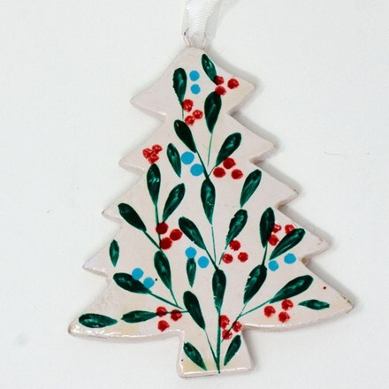 Small tree decoration - winter leaves