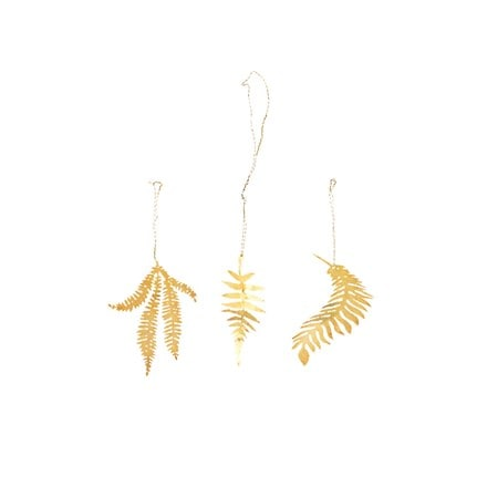 Tabwa leaf decorations - set of 3