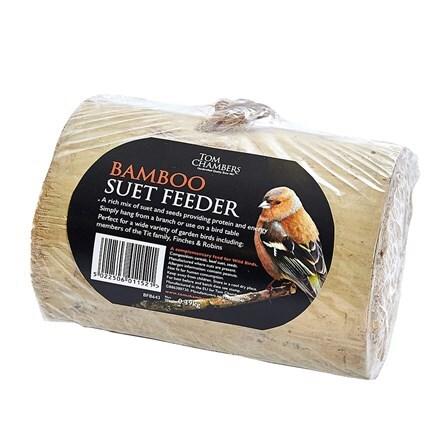 Bamboo suet feeder