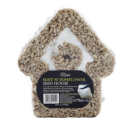 Suet and sunflower hearts house