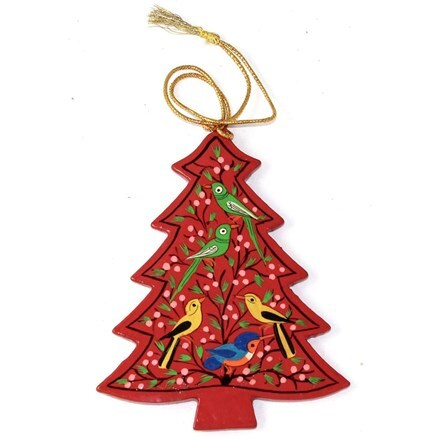 Red tree decoration - birds