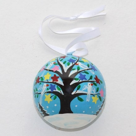 Tree and dove bauble
